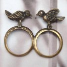 Size 6.6 and 6.0 Antique Brass Bird 2-finger Ring