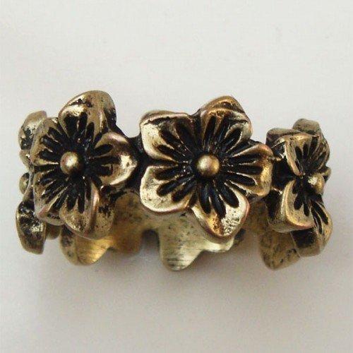 Size 6.2 Antique Brass Flower Ring