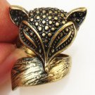 Size 6.0 Antique Brass Fox Ring