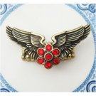 Stretchable Size Antique Brass Wing Ring