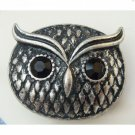 Stretchable Size Silver Plated Antique Brass Owl Ring