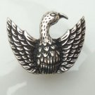 Size 7.0 Silver Plated Antique Brass Eagle Ring
