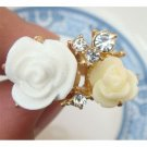 Size 5.6 Antique Brass Flower Ring