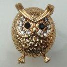 Adjustable Size 6.3-7.3 Antique Brass Owl Ring