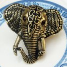 Adjustable Size 6.1-7.1 Antique Brass Elephant Ring