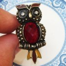 Size 6.5 Antique Brass Owl Ring