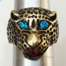 Size 6.8 Antique Brass Cougar Ring
