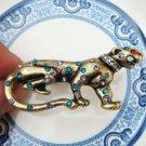 Adjustable Size 6.6-7.6 Antique Brass 2 finger Cougar Ring