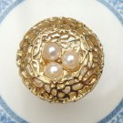 Size 6.6 Antique Brass Nest Ring