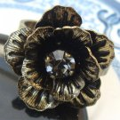 Size 7.8 Antique Brass Owl Ring