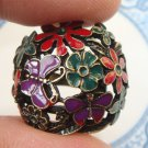 Size 6.3 Antique Brass Flower Ring