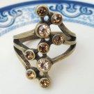 Size 6.9 Antique Brass Flower Ring