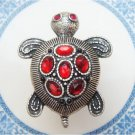 Size 7.6 Silver Plated Antique Brass Turtle Ring