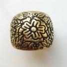 Size 7.0 Antique Brass Flower Ring
