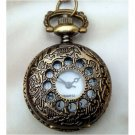 Retro Brass Fillagree Pocket Watch Locket Necklace Vintage Style -M