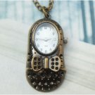 Retro Copper Shoe Pocket Watch Necklace Pendant VINTAGE Style