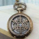Retro Brass Snow Locket Pocket Watch Pendant Necklace