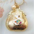 Steampunk Original Design Swan Handbag Vinatge Style Necklace