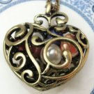Steampunk Original Design Butterfly Heart Vinatge Style Necklace