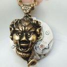 Steampunk Original Design Zombie King Watch Movement Pendant Necklace