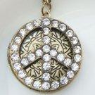 Steampunk Original Design Peace Locket Brass Necklace