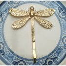 Antique Brass Dragonfly Hair Pin