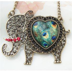 Steampunk Original Design Elephant Brass Necklace