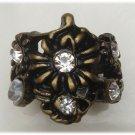 Size 6.6 Antique Brass Flower Ring