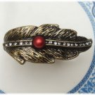 Size 5.6 Antique Brass Leaf Ring Vintage Style