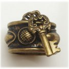 Size 5 Antique Brass Key Ring Vintage Style