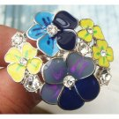 Size 8.0 Silver Plated Brass Flower Ring Vintage Style