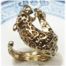 Size 6 Antique Brass Cougar Ring Vintage Style
