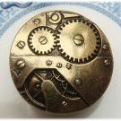 Stretchable Size Antique Brass Mechanism Ring Vintage Style