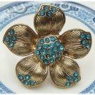Adjustable Size Antique Brass Flower Ring Vintage Style