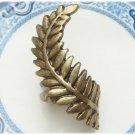 Size 5.8 Antique Brass Leaf Ring Vintage Style