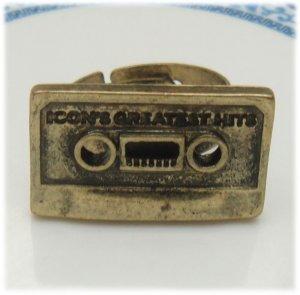 Adjustable Size Antique Brass Tape Ring Vintage Style