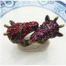 Size 6.6 Antique Brass Giraffe Ring Vintage Style