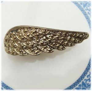 Size 5.8 Gold Plated Brass Wing Ring Vintage Style