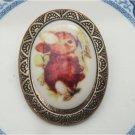 Antique Brass Rabbit Pin Brooch