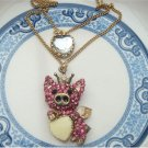 Antique Brass Flying Pig Necklace Pendant Vintage Style
