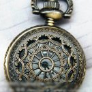 Antiqued Brass Vintage Style  Classic  Necklace Hollow Out  Pocket Watch Necklace