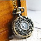 Antiqued Brass Vintage Style  Classic  Necklace   Hollowed Out Pattern Pocket Watch Necklace
