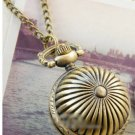 Antiqued Brass Vintage Style  Classic  Necklace Texture A Ball Pocket Watch Necklace