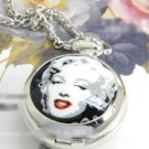 Antiqued Silver Vintage Style Classic Necklace Marilyn Monroe Pocket Watch Necklace