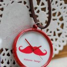 Vintage Style Classic Necklace Affandi beard Red Pocket Watch Necklace