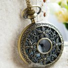 Antiqued Brass Vintage Style  Hollow Out Starfish Pocket Watch Necklace
