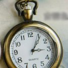 Antiqued Brass Vintage Style No Cover Pocket Watch Necklace