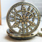 Antiqued Brass Vintage Style Necklace Classic Leaf Pocket Watch Necklace