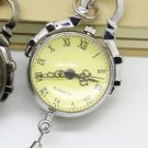 Antiqued Silver Vintage Style Classic PUNK Ball Pocket Watch Necklace