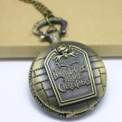 Antiqued Brass Vintage Style Classic PUNK English Wall Pocket Watch Necklace